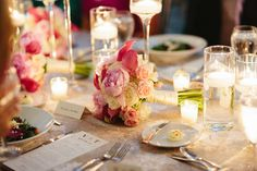 What a lovely idea to use the as part of the design for the estate table? Wedding Ceremony, Reception, Grand Hyatt, Centerpieces, Table Decorations, White Lilies, Table Flowers, Atlanta Wedding, Soft Colors
