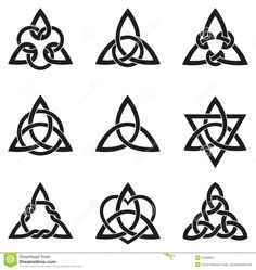 Nine Celtic Triangle Knots Stock Vector - Image: 52008631