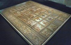 Musée gallo-romain de St-Romain-en-Gal - mosaïque d'un calendrier agricole - IIIème siècle - Musée archéologique de St-Germain-en-Laye (Ile de France)
