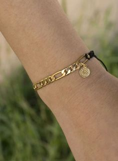 Astoria Couture - Astoria/18k gold plated link chain Macrame braclet, $89.00 (http://www.astoriacouture.com/astoria-18k-gold-plated-link-chain-macrame-braclet/)