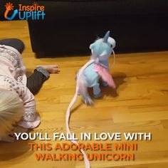 In the world of unicorn toys, this Magic Walking & Singing Unicorn is one of our favorites! He enjoys going on walks so much that he sings when you ta Diy For Girls, Gifts For Girls, Kids Gifts, Unicorn Stuffed Animal, Unicorn Pet, Unicorn Christmas, Buy Toys, Childhood Toys, Cool Kids