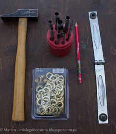 Mi blog de costura: Tutorial para colocar anillas/ollaos