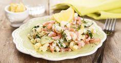 Recette de Salade de coquillettes au saumon fumé. Facile et rapide à réaliser, goûteuse et diététique. Ingrédients, préparation et recettes associées.