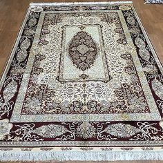 Yilong 6'x9' Home Decor Handmade Silk Area Rugs Orient Hand Knotted Carpets S43A