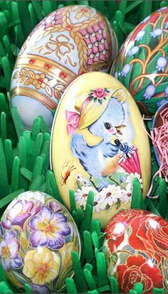 Metal Easter egg tins from England