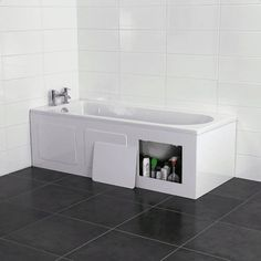 Croydex Gloss White Storage Front Side Bath Panel Wb715122