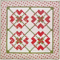 American Quilter's Society - Chains of Hearts Red and Green Quilt Kit - Shop by Manufacturer - By the Yard - Fabric