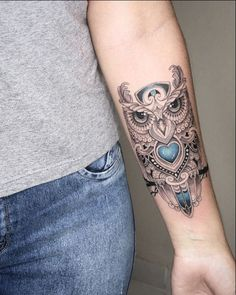 barn owl tattoo Owl Tattoo Design, Tattoo Designs, Barn, Skull, Tattoos, Collection, Ideas, Converted Barn, Tatuajes