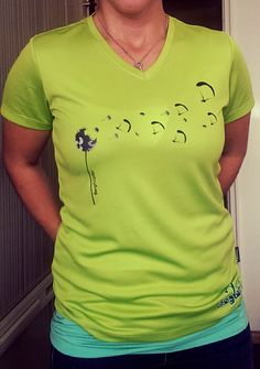 Shirt | selbstdesignt | Gleitschirm | Paragliding | Pusteblume