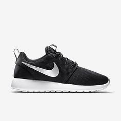 Nike Roshe One Women s Shoe, Color  Black White Metallic Platinum, Size c153e29eb558