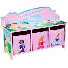 Disney Princess Toy Bench with Back and 3 Bins  sc 1 st  Pinterest & Cinderella Magnetic Dress-Up Set | Cinderella princess Toy and Babies