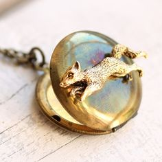 Hey, I found this really awesome Etsy listing at https://www.etsy.com/dk-en/listing/100805880/fox-locket-necklace-vintage-woodland