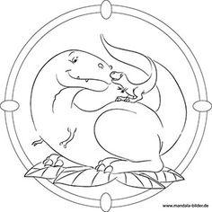 mandala ausmalbild t-rex | ausmalbilder, malvorlagen
