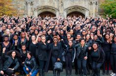 Students at Yale stand in solidarity with Mizzou.