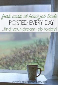 Work at home job leads posted every day for job seekers wanting to telecommute. No commute and PJs are ok! MoneyMakingMommy.com