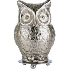 Buy Heart of House Silva Glass Owl Table Lamp - Silver at Argos.co.uk - Your Online Shop for Table lamps.