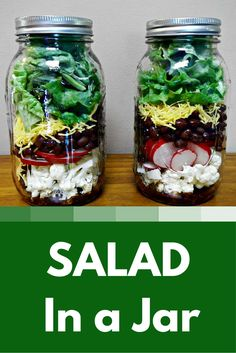 For a quick salad meal, try this salad in a jar recipe. They will keep in the refrigerator about 4 days.