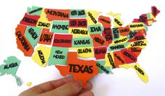 50 States Magnets made with #Cricut! love this for my girls learning the states