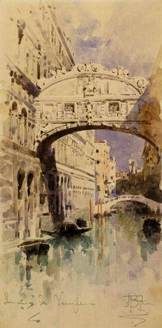 Mikhail Vrubel Venice. Bridge of Sighs. 1892-1893