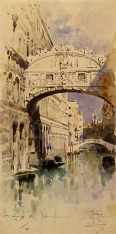 Mikhail Vrubel Venice. Bridge of Sighs. 1892-1893