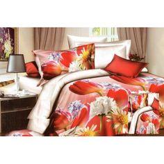 Posteľné obliečky s motívom Country Bedding Sets, 3d Bedding Sets, Queen Bedding Sets, Bedclothes, Bed Sets, Red Flowers, Duvet Cover Sets, Comforters, Blanket