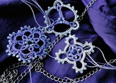 Yarnplayer's Tatting Blog: Purple and silver