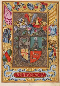 Grant of arms, in favor of Melchor del Peso [by Philip III of Spain], 1614