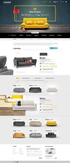 Concept UI for Coricraft Art Direction UI/UX Web Design