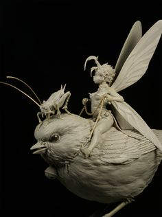 """Tinkerbell by Patrick """"The Small"""" Masson · Putty&Paint Fantasy Creatures, Mythical Creatures, 3d Art, 3d Fantasy, Poses References, Art Sculpture, 3d Prints, Arte Pop, Creature Design"""
