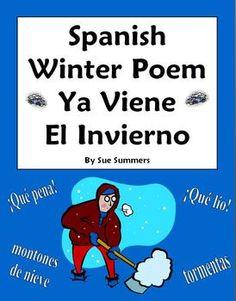 Spanish Winter Poem - Ya Viene El Invierno - Spanish Poetry by Sue Summers
