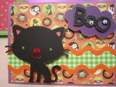 cute Halloween card--cricut cartridge baby steps