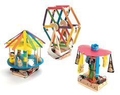 Make your own chair-o-plane fairground DT project kits. Make your own chair-o-plane Give pupils an opportunity to extend and use knowledge of electrical circuitry and switches to produce a fairground ride. Popsicle Stick Crafts, Popsicle Sticks, Craft Stick Crafts, Diy And Crafts, Crafts For Kids, Paper Crafts, Stem Activities, Activities For Kids, Lolly Stick Craft