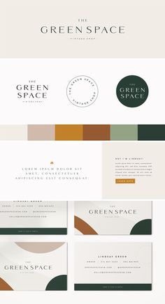Foxtail Brewing Company — Becca Koebrick Design Studio : Clean logo design for The Green Space, a vintage shop. Simple, funky, and conscious. Keep it fun and simple. Brand designing for a vintage store. Designed By: Becca Koebrick Design Studio Corporate Identity Design, Brand Identity Design, Business Branding, Logo Branding, Brand Design, Logo Design Studio, Visual Identity, Logo Design Simple, Simple Logos