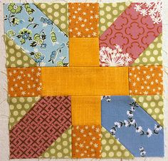 The Japanese x and + block. Great for using up scraps. Every time I see this block, I love it!