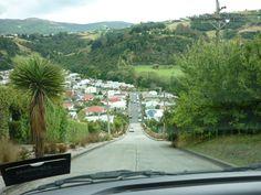 Steepest road in the world, Dunedin, nz