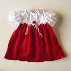 Vintage Red Velvet Dress with White Lace for baby girl for sale here https://www.etsy.com/listing/493208562/vintage-red-velvet-and-white-dress-for?ref=shop_home_active_3