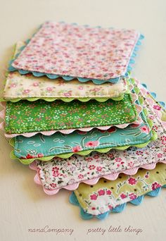 """4"""" x 4"""" coasters, but a little larger and potholders would be oh so nice!"""
