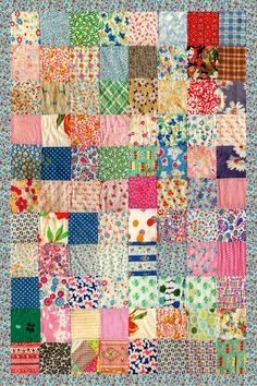 cool patchwork! Love this very simplest of patterns - you can't go wrong - love these fabrics