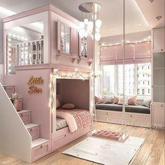 Kids Bedroom Designs, Room Design Bedroom, Room Ideas Bedroom, Home Room Design, Small Room Bedroom, Tiny Bedrooms, Princess Bedrooms, Girls Room Design, Bed For Girls Room