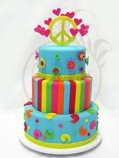 Hippie Chic Cake - Caketutes Cake Designer: Bolo Hippie Chic