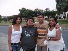Nuestros cuatro hijos en el Perú, Gentian, Mauricio, Izerguil y Brenda. Se juntaron en Lima.