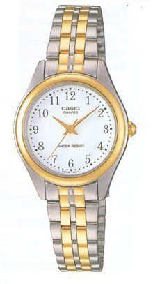 Casio Ltp1129G7Brdf Womens White Dial Two Tone Base Metal Watch * Want to know more, click on the image.