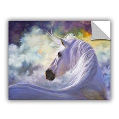 Items similar to Horse Art Print, White Horse Print Poster, Equine Art, Horse Decor, Home Decor on Etsy Horse Artwork, Horse Wall Art, Painting Prints, Art Prints, Painting Art, Horse Drawings, Equine Art, Horse Pictures, Animal Paintings