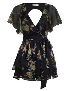Zimmermann Maples Wrap Playsuit. Product Image.