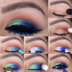 If you want to transform your eyes and improve your good looks, finding the very best eye make-up tips can help. You need to be sure you wear make-up that makes you start looking even more beautiful than you already are. Bright Makeup, Colorful Eye Makeup, Blue Eye Makeup, Eye Makeup Tips, Makeup Goals, Skin Makeup, Makeup Inspo, Eyeshadow Makeup, Makeup Ideas