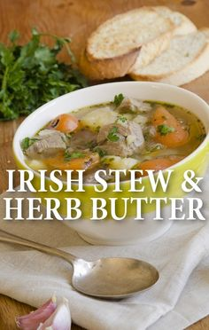 Rachael Ray served up her slow-cooked Irish Stew Recipe and suggested making a quick preparation of a Honey Dijon Herb Butter for the bread to go with it. http://www.recapo.com/rachael-ray-show/rachael-ray-recipes/rachael-ray-irish-stew-recipe-honey-dijon-herb-butter/