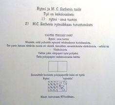 Rytmi - Escherin innoittamana, oma työ (ohje).