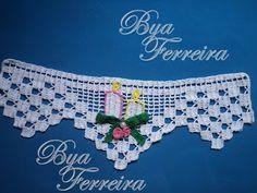 Crochê Bya Ferreira: PAP barrado velinhas natalinas - (repostagem)