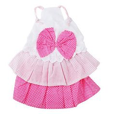 Ollypet Bowtie Style Cute Dog Dress Pink Dot Outfit M Ollypet
