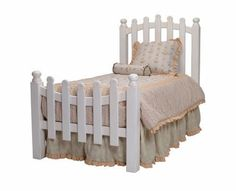 As sweet as can be, the Picket Fence Twin Bed by Newport Cottages adds a splash of wholesome goodness to any room. Featuring a picket fence inspired headboard and footboard, this bed adds a touch of country charm with a modern twist. Bedroom Themes, Girls Bedroom, Bedroom Ideas, Beach Bedrooms, Cozy Bedroom, Nursery Ideas, Kids Furniture, Bedroom Furniture, Cottage Furniture